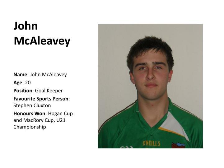 John McAleavey
