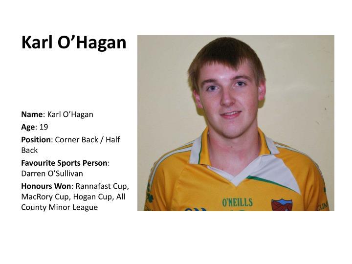 Karl O'Hagan