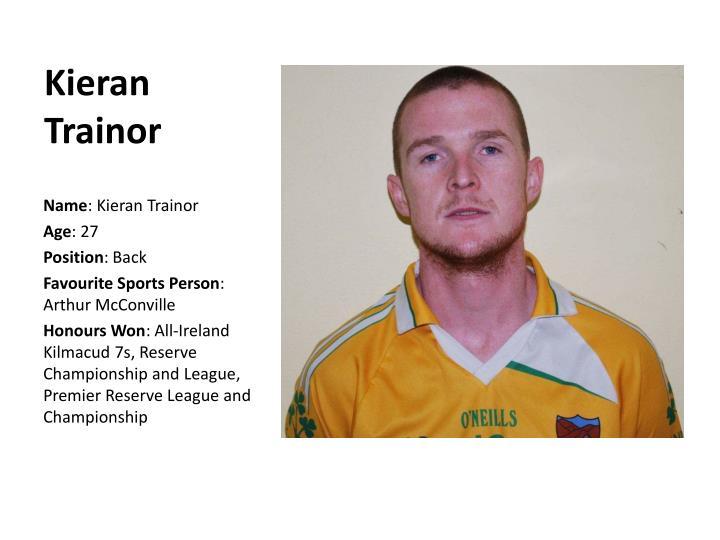 Kieran Trainor
