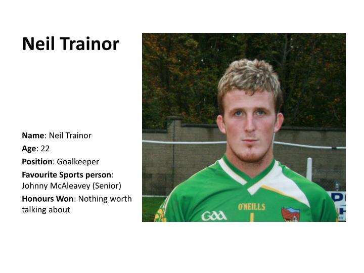 Neil Trainor