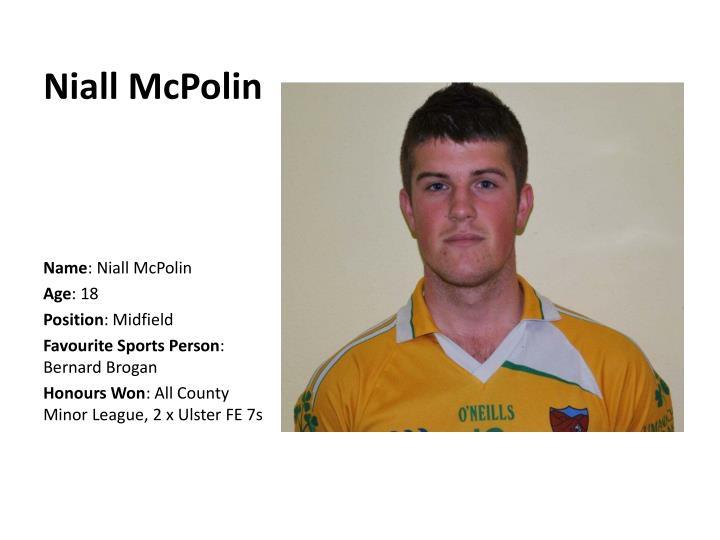 Niall McPolin