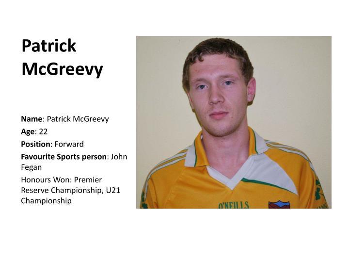 Patrick McGreevy