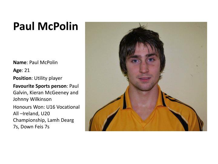 Paul McPolin