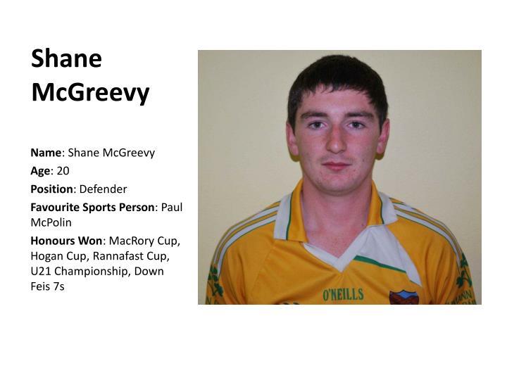 Shane McGreevy