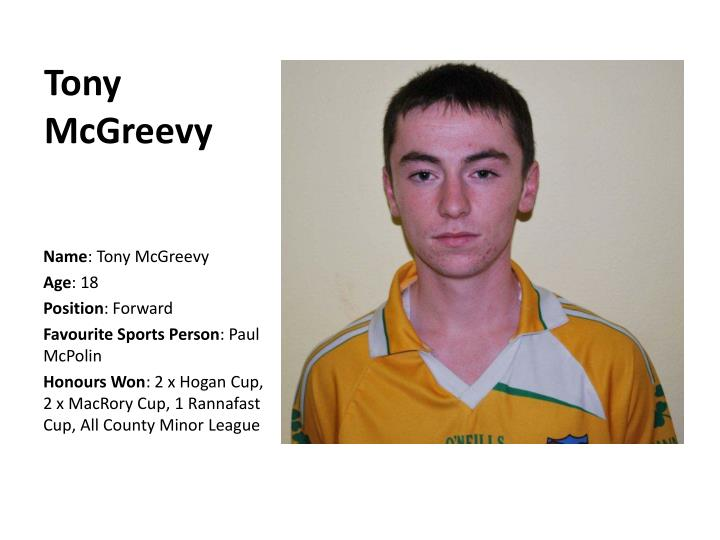Tony McGreevy