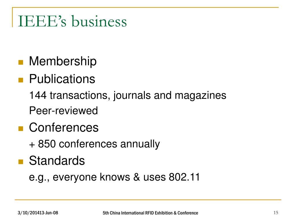 IEEE's business