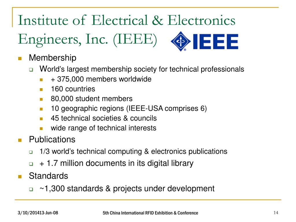 Institute of Electrical & Electronics Engineers, Inc. (IEEE)