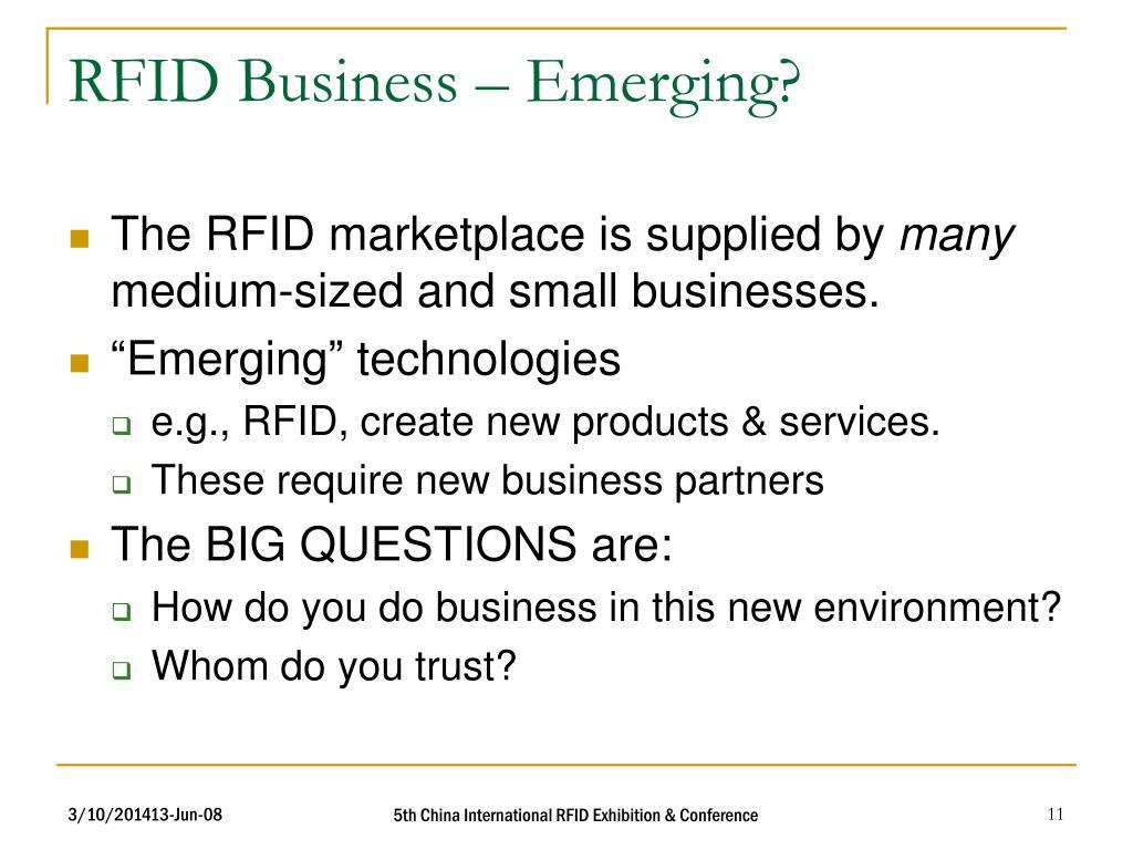 RFID Business – Emerging?