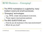 rfid business emerging