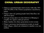 china urban geography