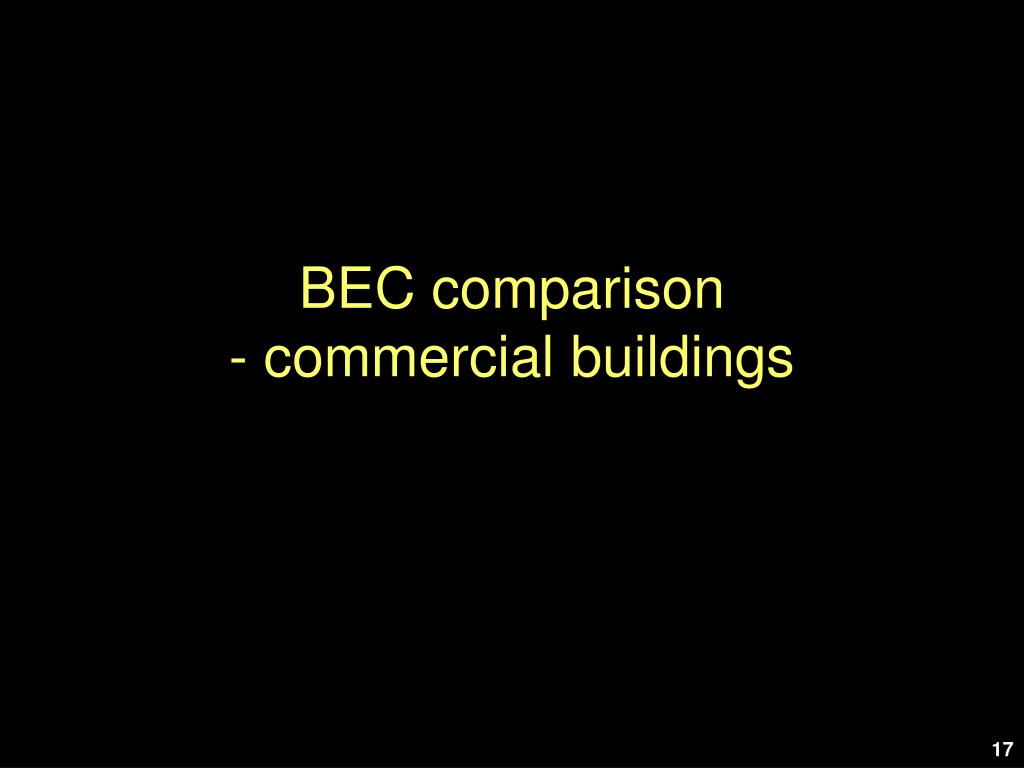 BEC comparison