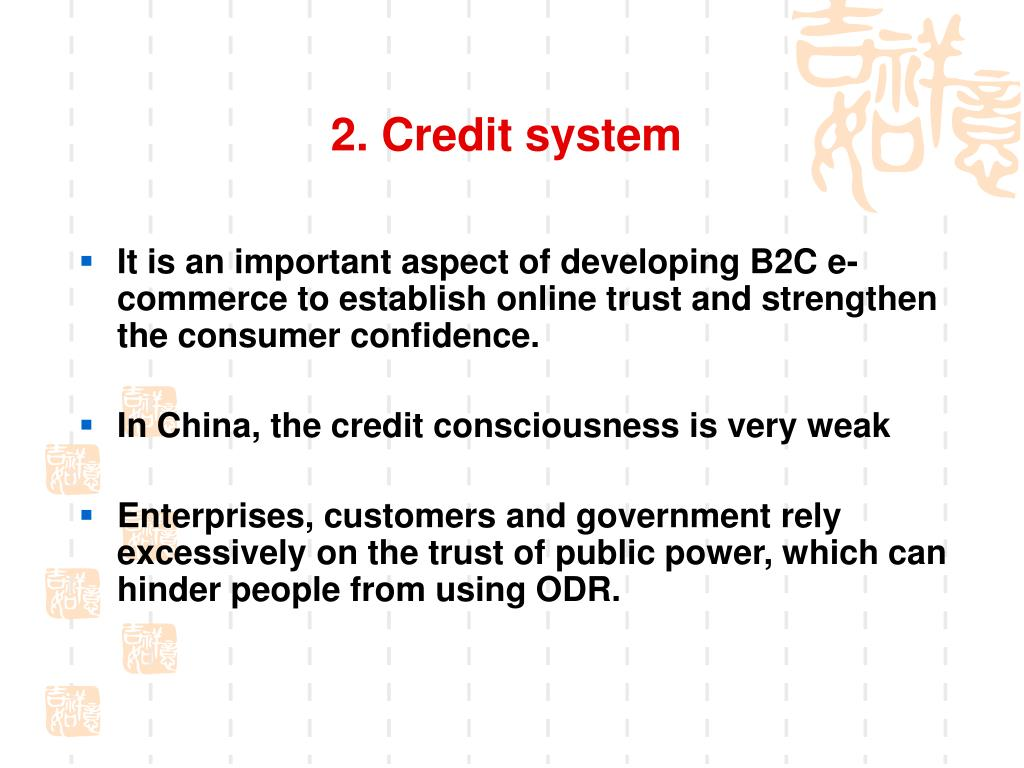 2. Credit system