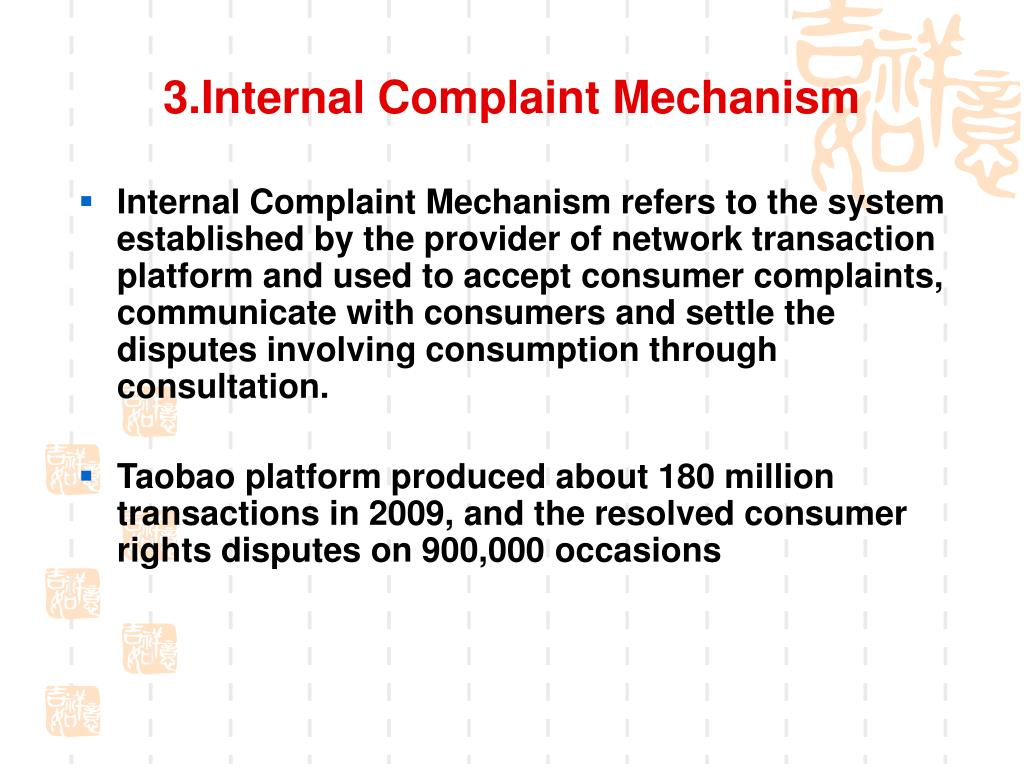 3.Internal Complaint Mechanism