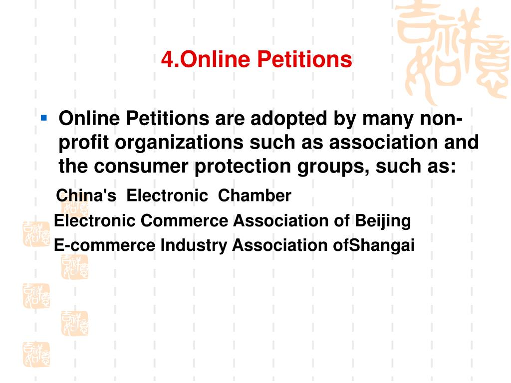 4.Online Petitions