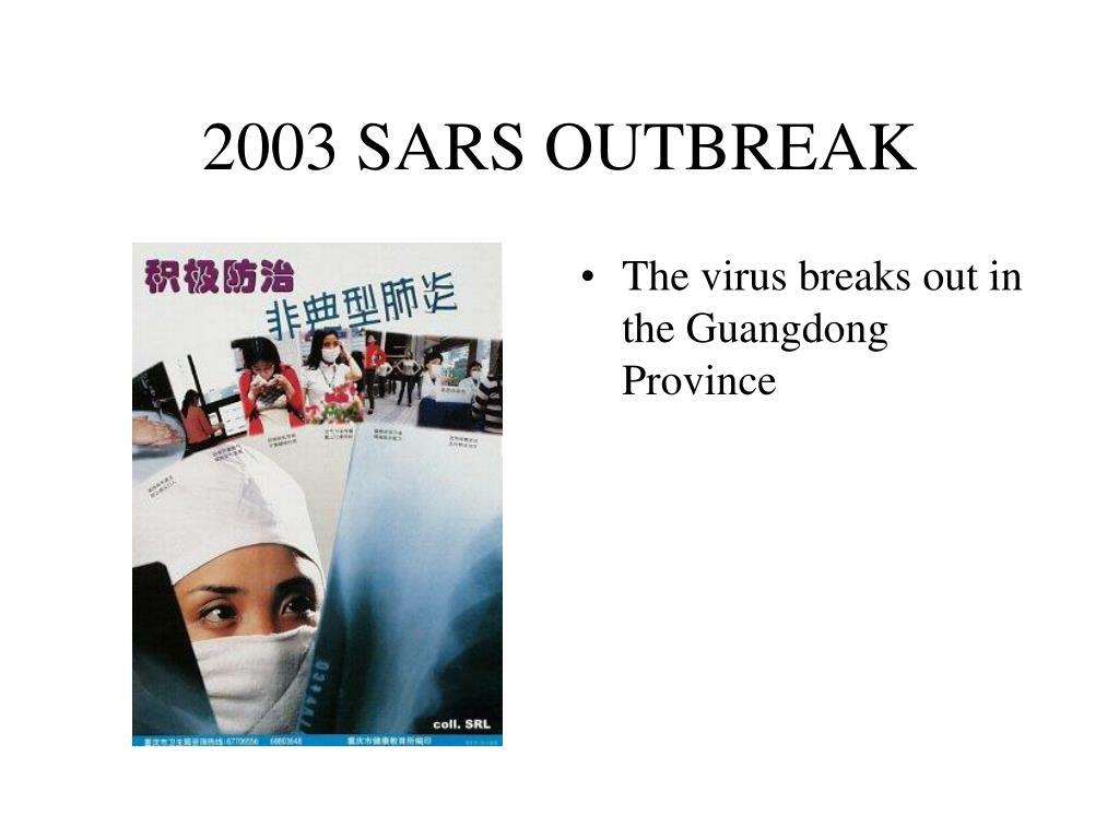 2003 SARS OUTBREAK