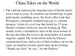 china takes on the world