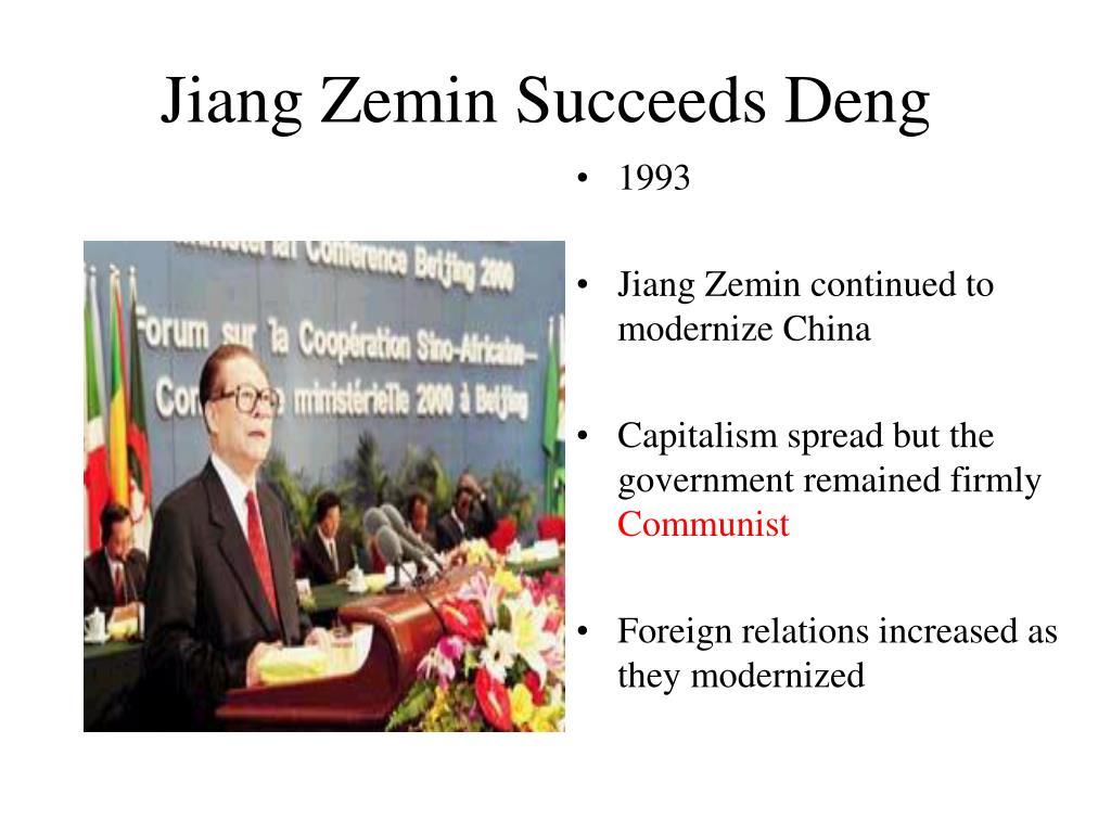 Jiang Zemin Succeeds Deng