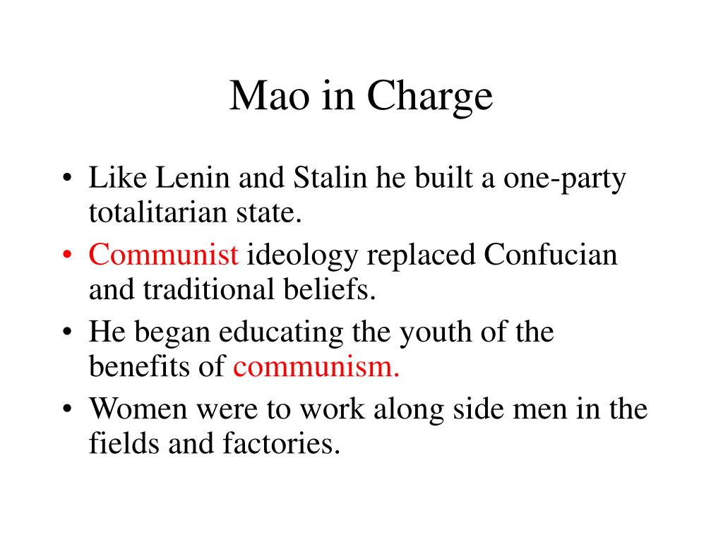 Mao in Charge