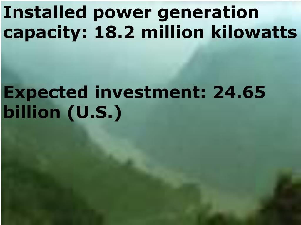 Installed power generation capacity: 18.2 million kilowatts