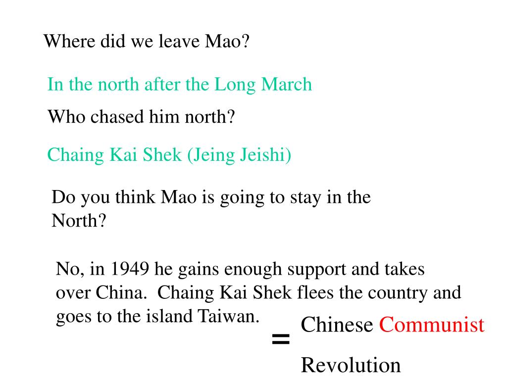 Where did we leave Mao?