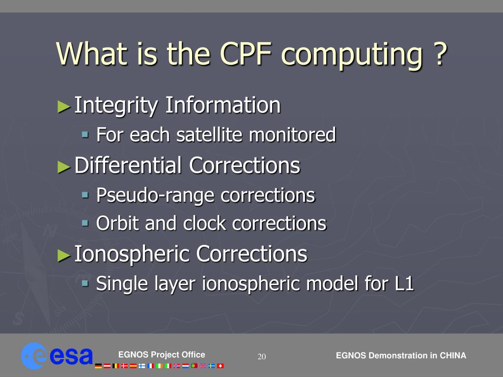 What is the CPF computing ?