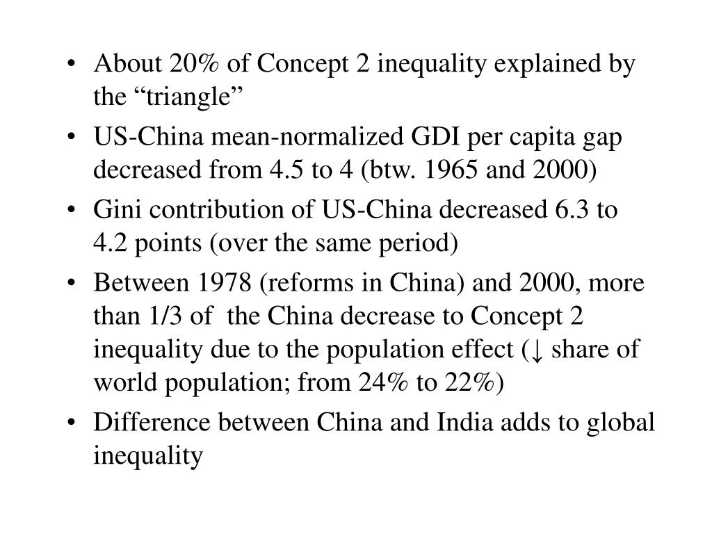 "About 20% of Concept 2 inequality explained by the ""triangle"""
