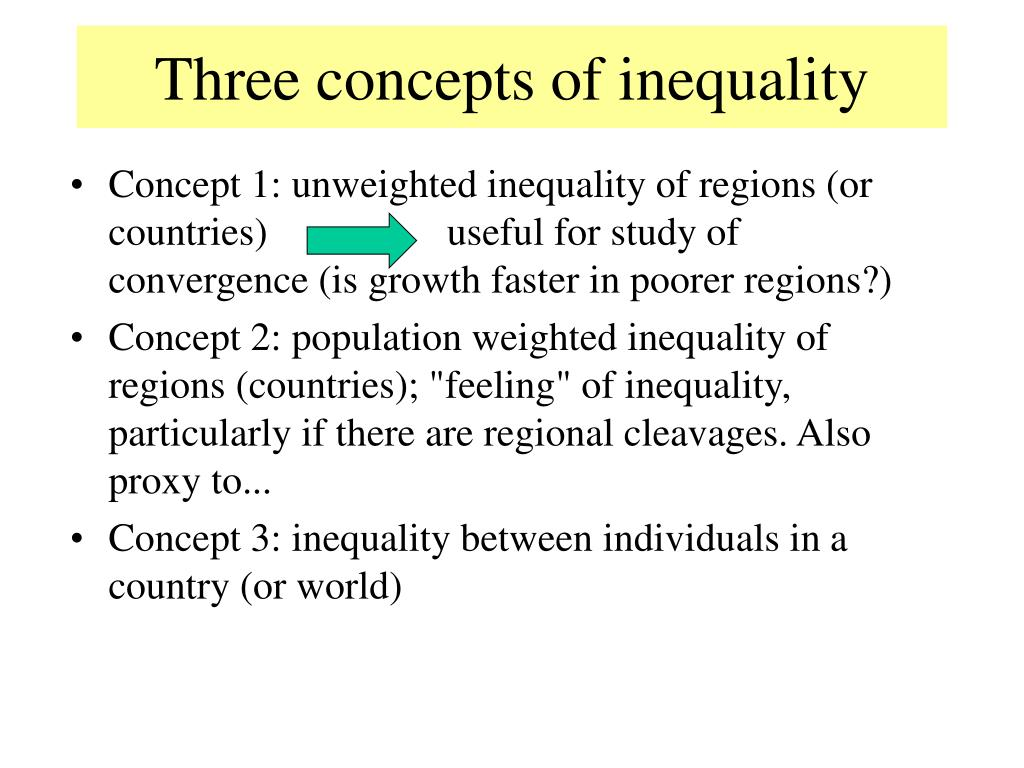 Three concepts of inequality
