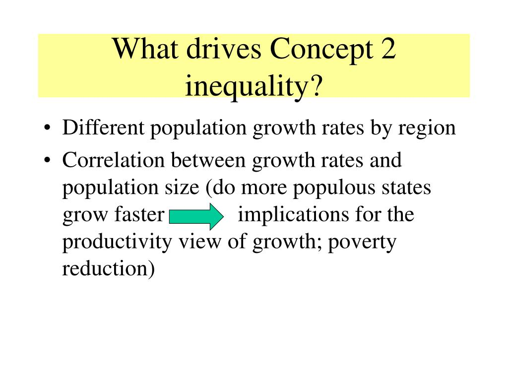 What drives Concept 2 inequality?