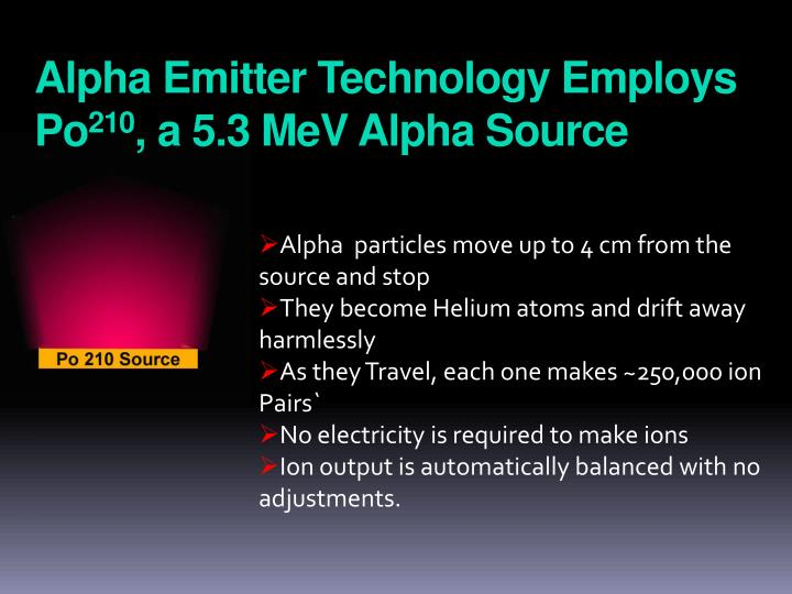 Alpha Emitter Technology Employs Po