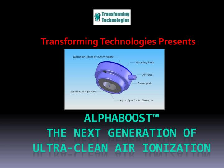 transforming technologies presents