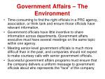 government affairs the environment