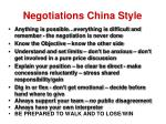 negotiations china style