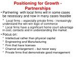positioning for growth partnerships