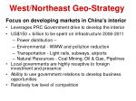 west northeast geo strategy