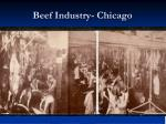 beef industry chicago