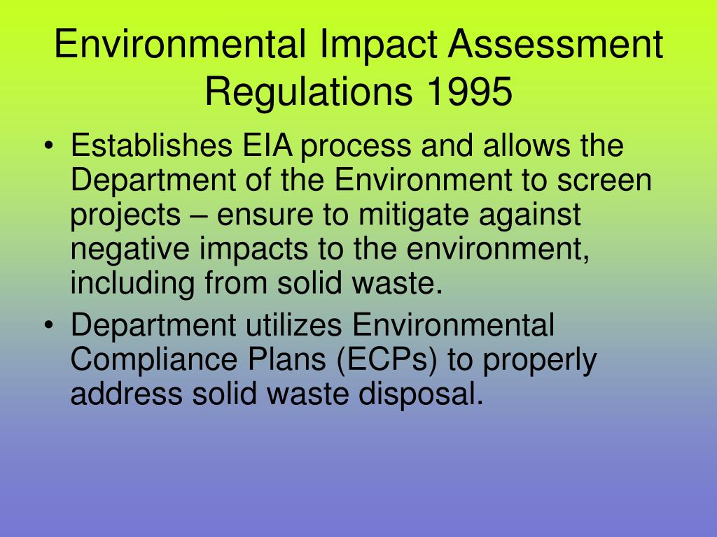 Environmental Impact Assessment Regulations 1995