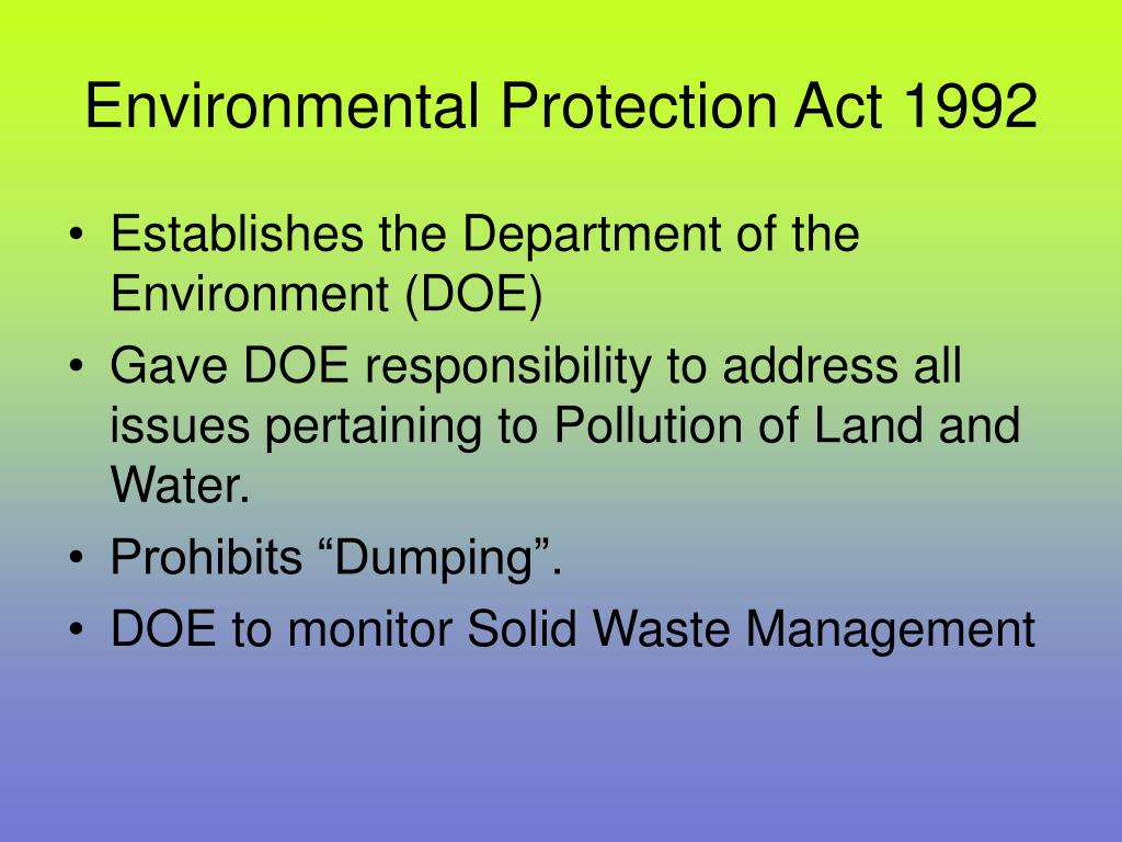 Environmental Protection Act 1992