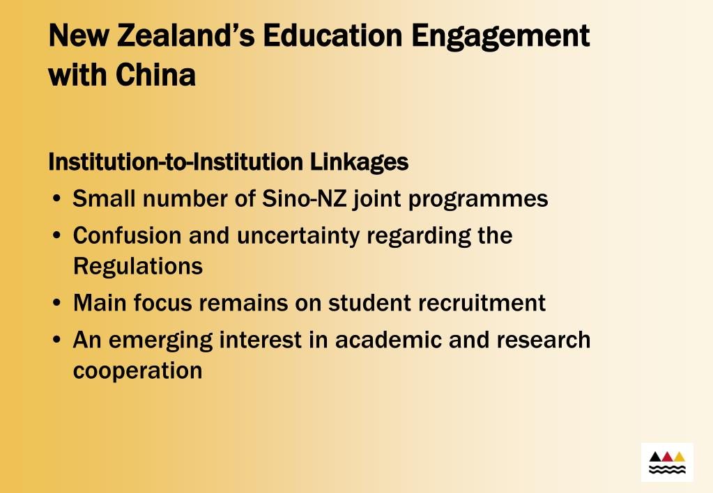 New Zealand's Education Engagement with China