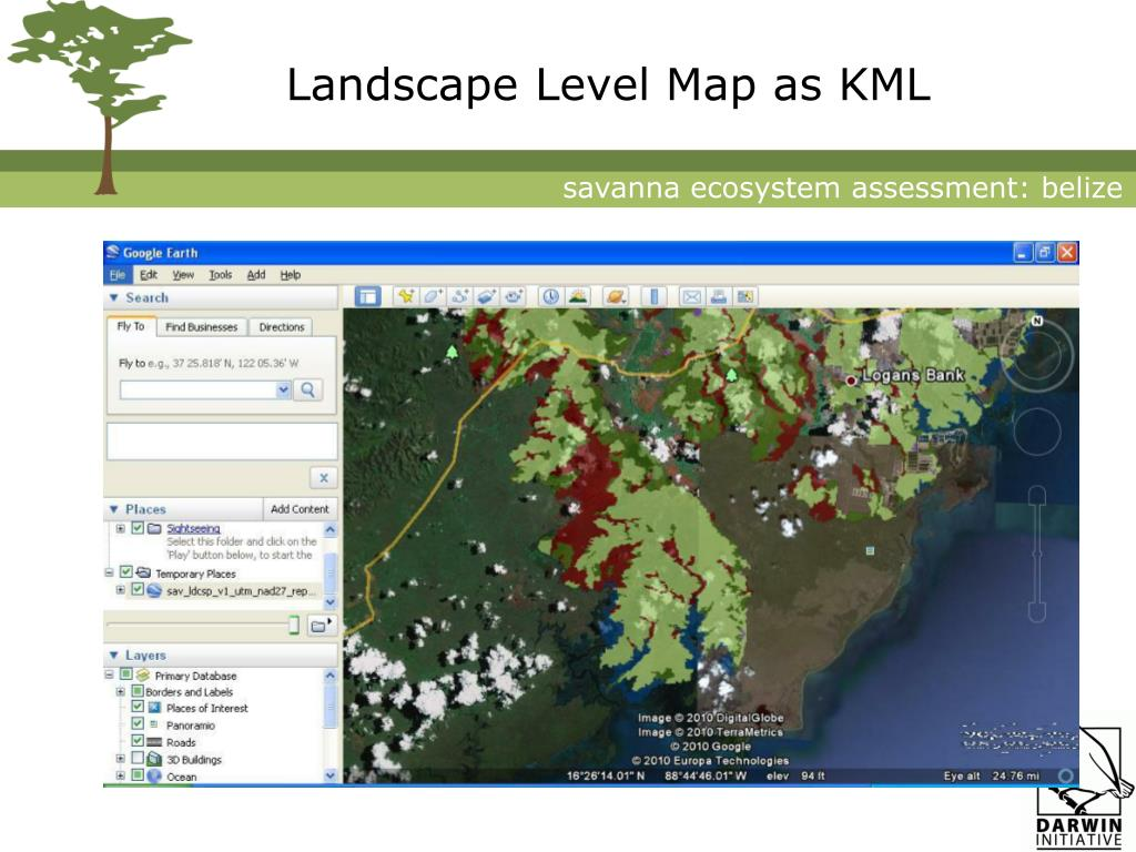 Landscape Level Map as KML
