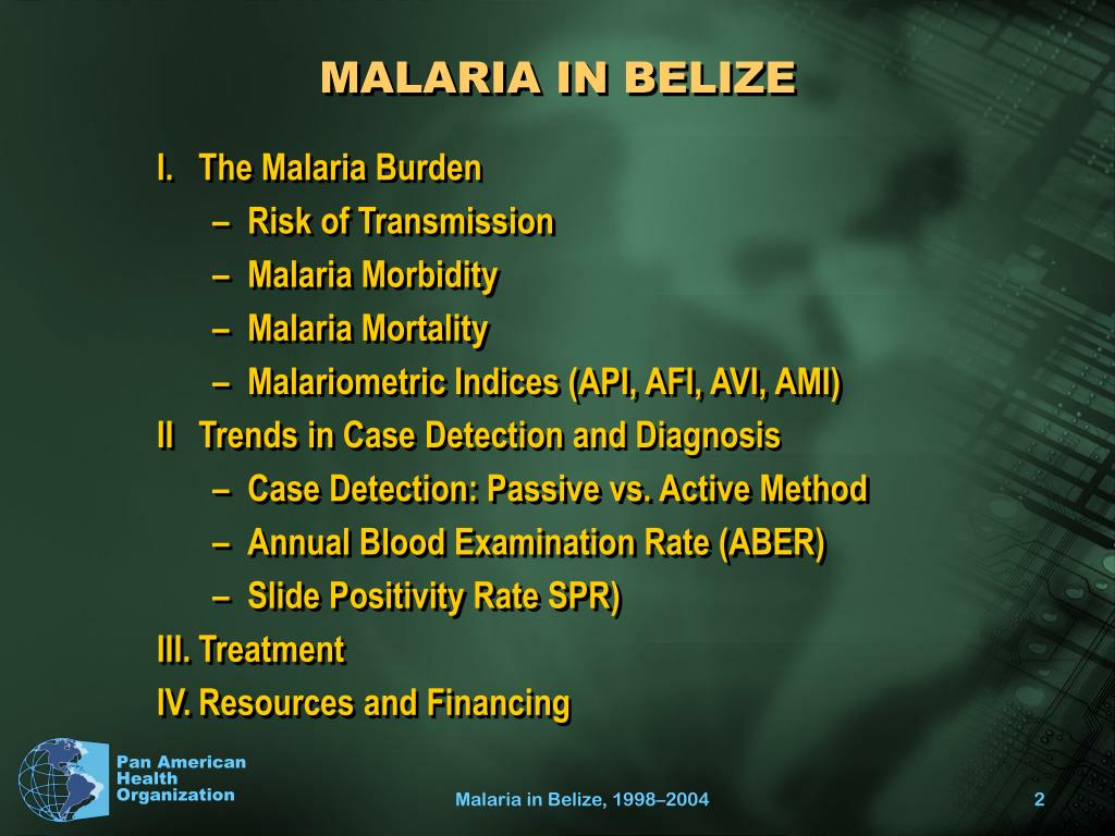 MALARIA IN BELIZE