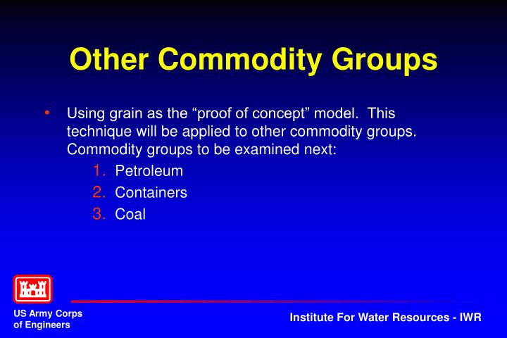 Other Commodity Groups