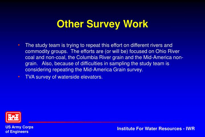 Other Survey Work