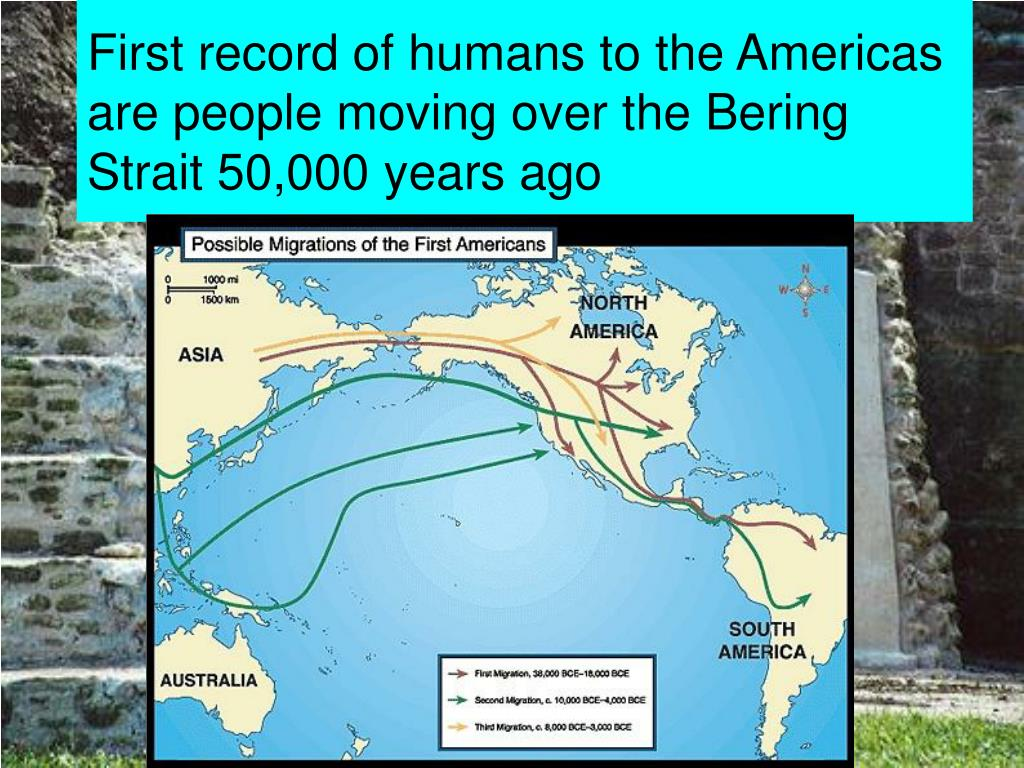 First record of humans to the Americas are people moving over the Bering Strait 50,000 years ago