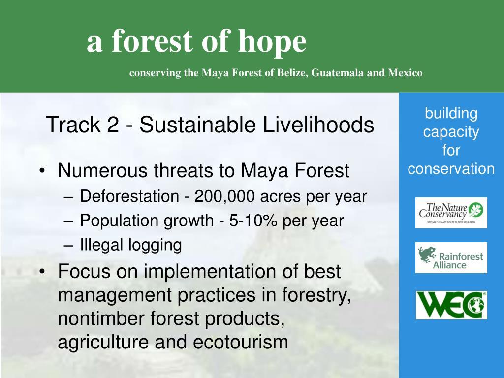 Track 2 - Sustainable Livelihoods