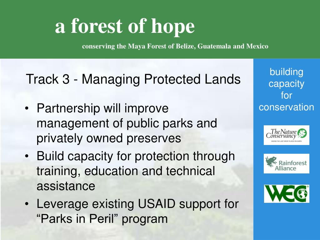 Track 3 - Managing Protected Lands
