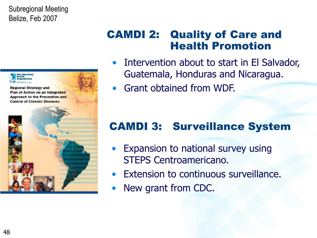 CAMDI 2: 	Quality of Care and 			Health Promotion