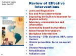 review of effective interventions