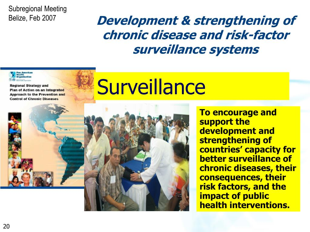 Development & strengthening of chronic disease and risk-factor surveillance systems