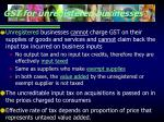 gst for unregistered businesses