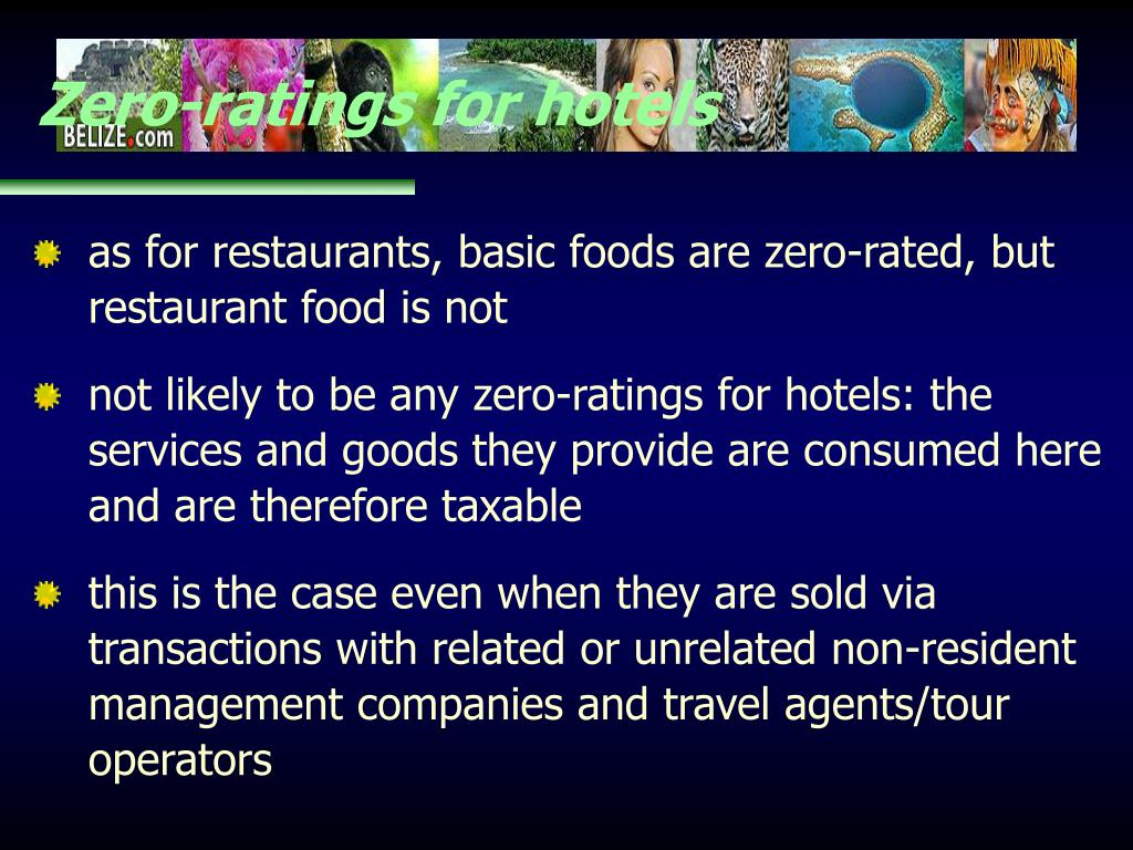 Zero-ratings for hotels